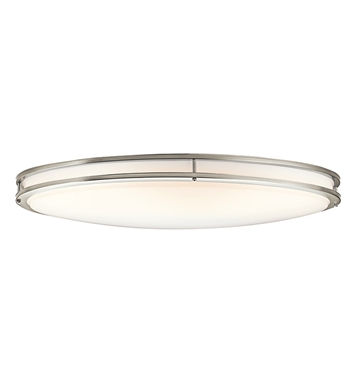 Kichler 10879NI Verve Collection Ceiling Oval 2 Light Fluorescent in Brushed Nickel