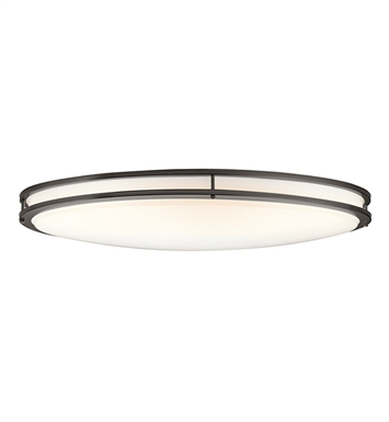 Kichler 10879OZ Verve Collection Ceiling Oval 2 Light Fluorescent in Olde Bronze