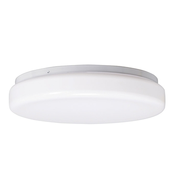 Kichler 10890WH Flush Mount 2 Light Fluorescent in White