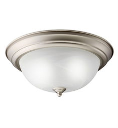 Kichler Flush Mount 2 Light Fluorescent in Brushed Nickel