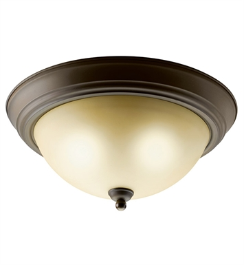 Kichler 10836OZ Flush Mount 2 Light Fluorescent in Olde Bronze