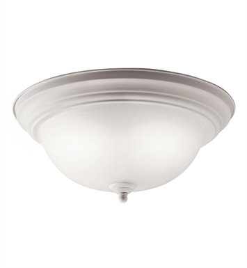 Kichler 10836WH Flush Mount 2 Light Fluorescent in White