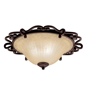 Kichler 8090CZ Wilton Collection Flush Mount 2 Light in Carre Bronze