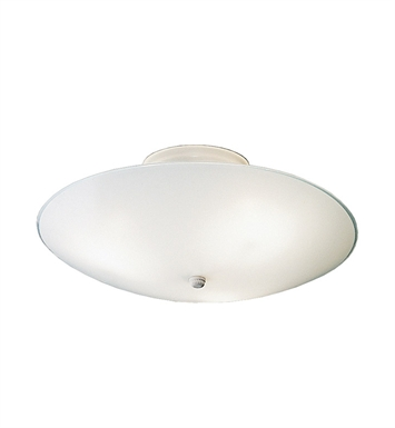 Kichler 7350WH Ceiling Space Collection 3-Bulb Flush Mount Light in White - Sold as a package of 6