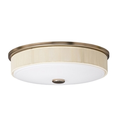 Kichler Santiago Collection Flush Mount 3 Light Fluorescent in Champagne