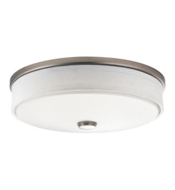 Kichler 10886NI Santiago 3 Light Compact Fluorescent Flush Mount Ceiling Light in Brushed Nickel