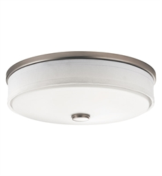 Kichler Santiago Collection Flush Mount 3 Light Fluorescent in Brushed Nickel