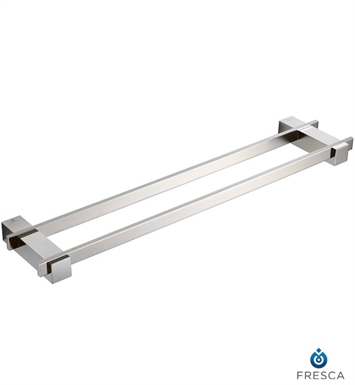"Fresca FAC1439BN Ellite 20"" Double Towel Bar in Brushed Nickel"