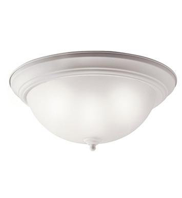 Kichler 10837WH Flush Mount 2 Light Fluorescent in White