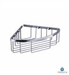 Fresca Single Corner Wire Basket in Chrome
