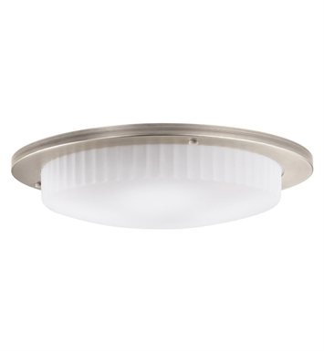 Kichler 10895AP Athenos Collection Flush Mount 3 Light Fluorescent in Antique Pewter
