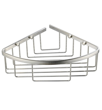 Fresca FAC1002BN Single Corner Wire Basket in Brushed Nickel