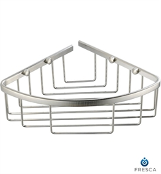Fresca Single Corner Wire Basket in Brushed Nickel