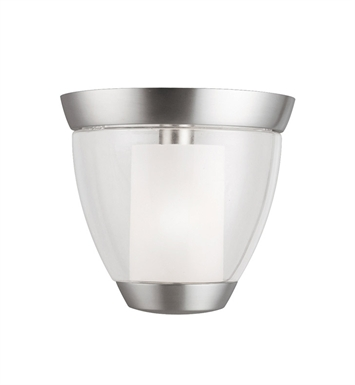 Kichler 3695NI Circolo Collection Semi Flush 1 Light in Brushed Nickel