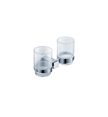 Fresca FAC1415 Ellite Double Tumbler Holder in Chrome