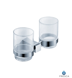 Fresca Ellite Double Tumbler Holder in Chrome