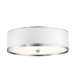 Kichler Pira Collection Flush Mount Small 1 Light Fluorescent in Brushed Aluminum