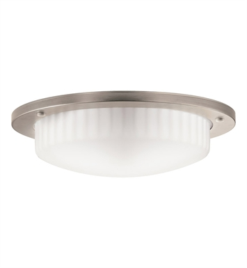 Kichler 10894AP Athenos Collection Flush Mount 2 Light Fluorescent in Antique Pewter