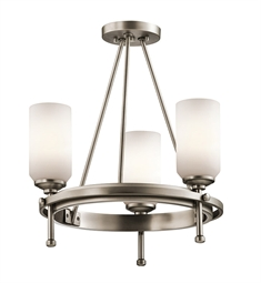 Kichler Ladero Collection Semi Flush/Chandelier 3 Light in Antique Pewter