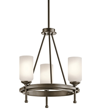 Kichler 42944SWZ Ladero Collection Semi Flush/Chandelier 3 Light in Shadow Bronze