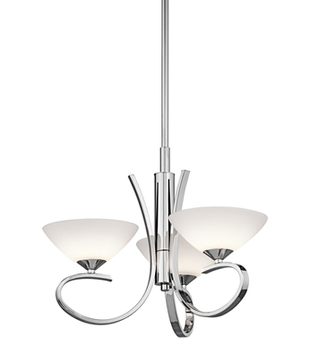 Kichler 43020CH Brooklands Collection Convertible 3 Light Halogen in Chrome