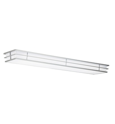 Kichler Pavilion Collection Linear Ceiling Mount 2 Light Fluor in Silver Various