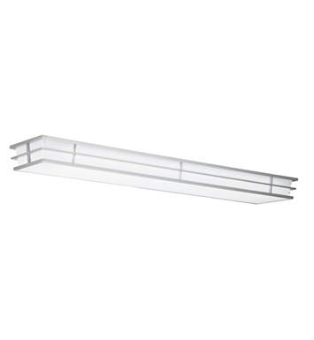 Kichler 10801SI Pavilion Collection Linear Ceiling Mount 2 Light Fluor in Silver Various