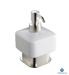 Fresca Solido Lotion Dispenser (Free Standing) in Brushed Nickel