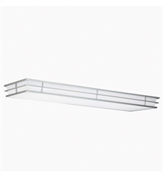 Kichler Pavilion Collection Linear Ceiling Mount 4 Light Fluor in Silver Various