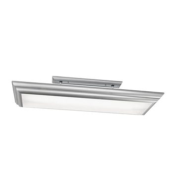 Kichler 10847SI Chella Collection Linear Ceiling Mount 4 Light Fluorescent in Silver Various