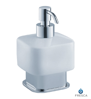 Fresca Solido Lotion Dispenser (Free Standing) in Chrome