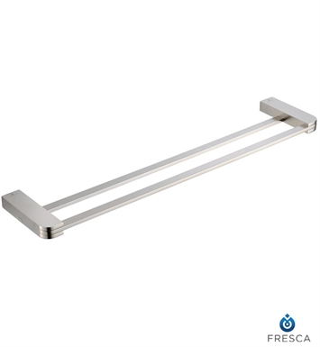 "Fresca FAC1339BN Solido 20"" Double Towel Bar in Brushed Nickel"