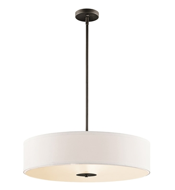 Kichler 42122OZ Semi Flush-Pendant 3 Light in Olde Bronze