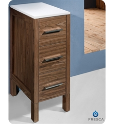"Fresca Torino 12"" Walnut Bathroom Linen Side Cabinet"