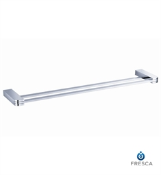 "Fresca Solido 20"" Double Towel Bar in Chrome"