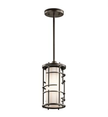 Kichler 43371OZ Tremba 1 Light Incandescent Semi-Flush Mini Pendant in Olde Bronze