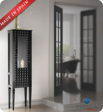Fresca Platinum Diamond Black Gloss Side Cabinet with Right Hand Opening