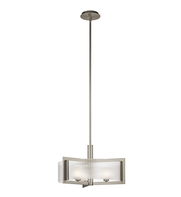 Kichler 43147NI Rigate Collection Semi Flush 3 Light Halogen in Brushed Nickel
