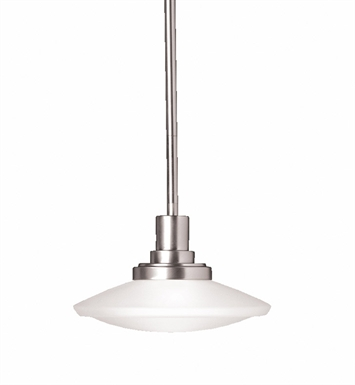 Kichler 2655NI Structures Collection Semi Flush-Pendant 1 Light Halogen in Brushed Nickel