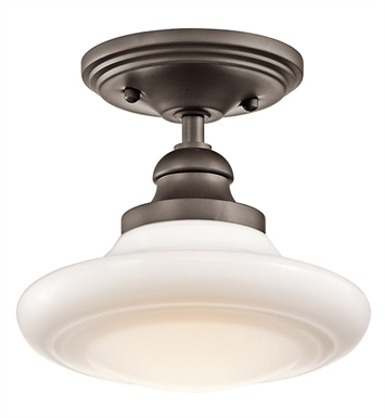 Kichler 42268OZ Semi Flush-Pendant 1 Light in Olde Bronze