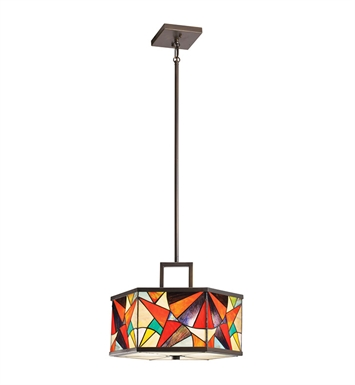 Kichler 65369 Carnival Collection Semi Flush-Pendant 3 Light in Olde Bronze
