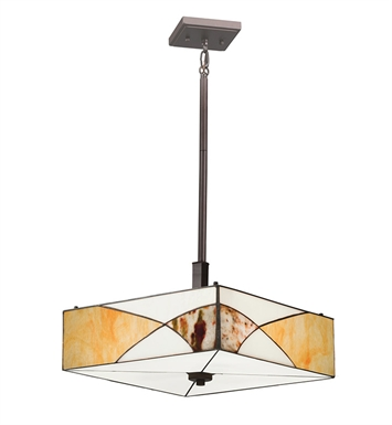 Kichler 65374 Elias Collection Semi Flush-Pendant 3 Light in Olde Bronze