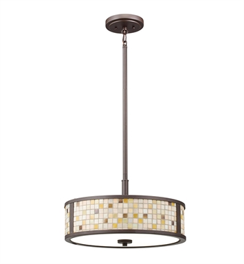 Kichler 65382 Blythe Collection Semi Flush-Pendant 3 Light in Olde Bronze