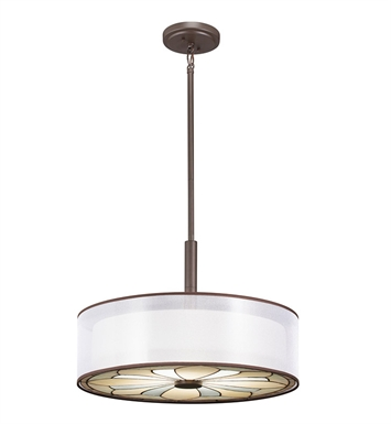Kichler 65387 Semi Flush-Pendant 4 Light in Olde Bronze