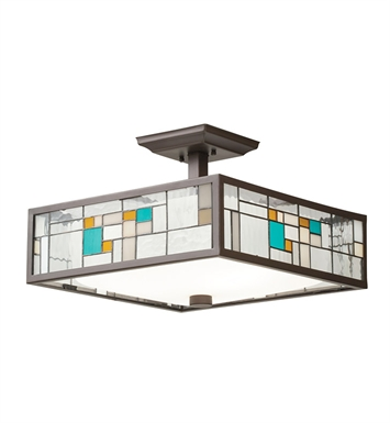 Kichler 65393 Caywood Collection Semi Flush-Pendant 3 Light in Olde Bronze