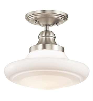 Kichler 42269NI Semi Flush-Pendant 1 Light in Brushed Nickel