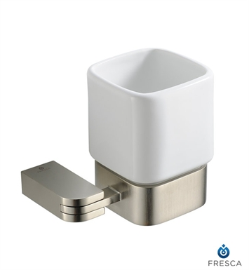 Fresca FAC1314BN Solido Tumbler Holder in Brushed Nickel