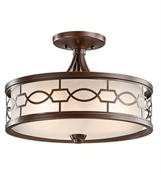 Kichler Punctuation Collection Semi Flush-Pendant 3 Light in Mission Bronze