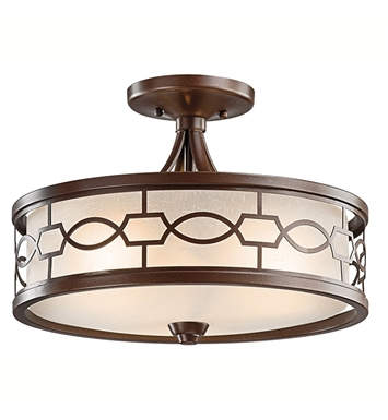 Kichler 42051MIZ Punctuation Collection Semi Flush-Pendant 3 Light in Mission Bronze