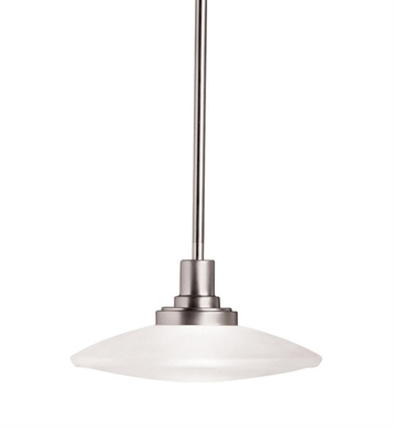Kichler 2652NI Structures Collection Semi Flush-Pendant 1 Light Halogen in Brushed Nickel